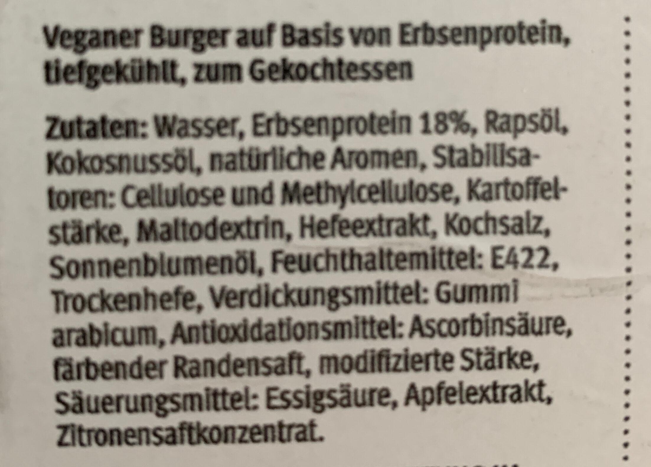 Beyond Burger - Plant-based patties - Zutaten - de