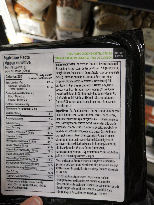 Simili-viande à base de plantes - Ingrédients - fr