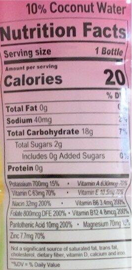 Strawberry Lemonade Lyte - Valori nutrizionali - en
