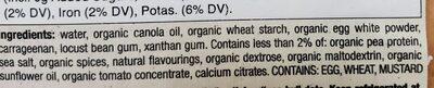 meatless turkeys - Ingredients - en