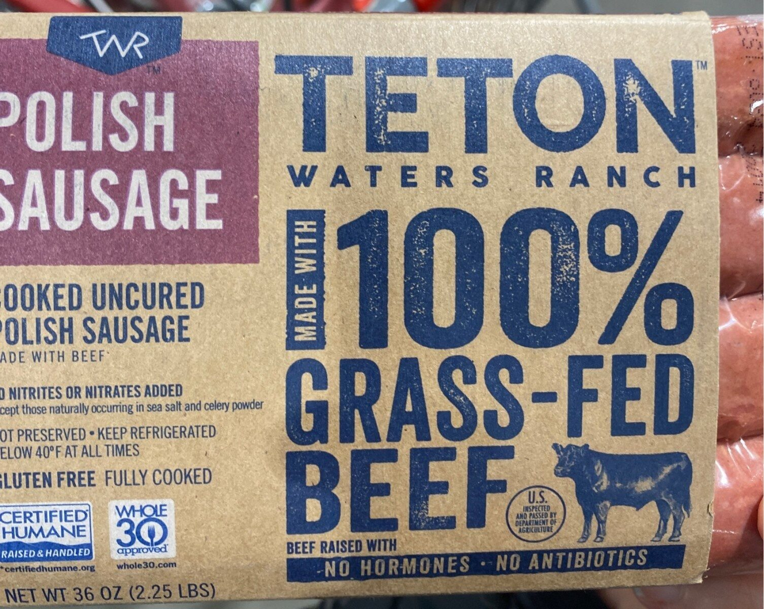100% Grass-Fed Beef Polish Sausage - Product - en