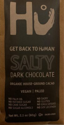 Salty 70% cacao dark chocolate, salty - Product - en