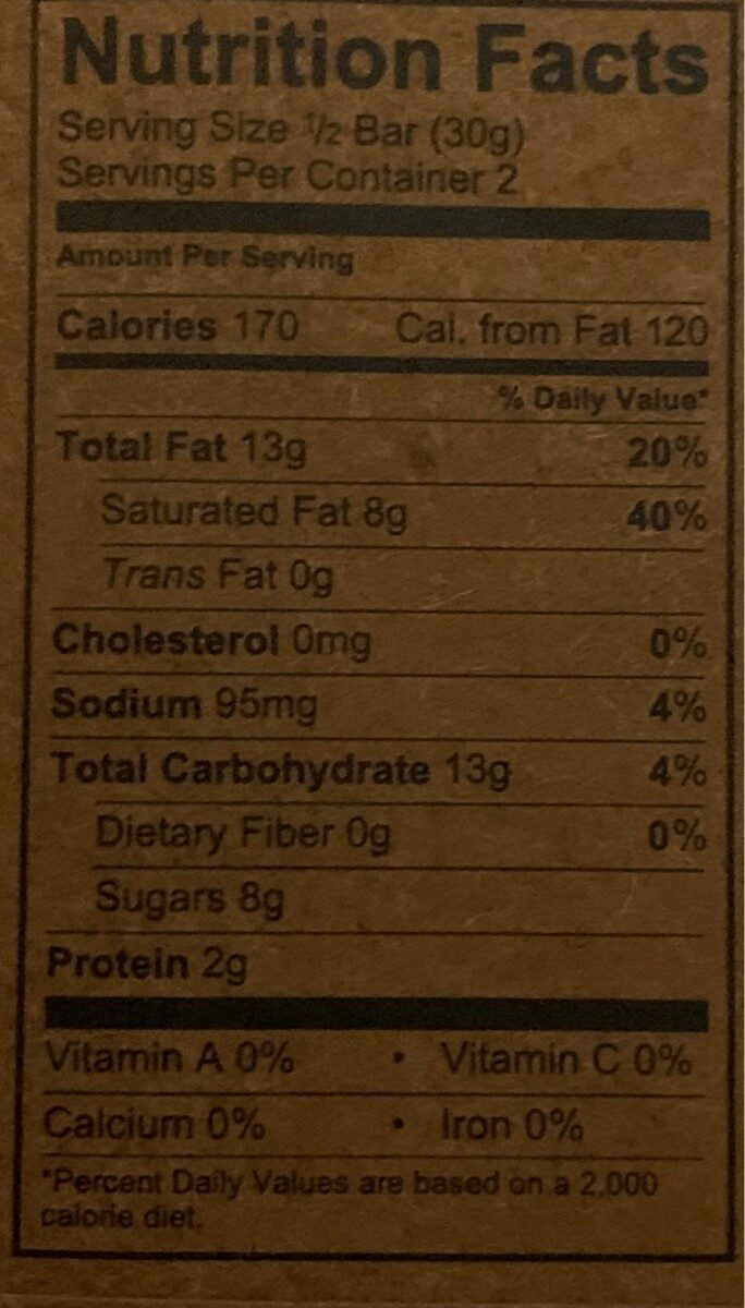 Salty 70% cacao dark chocolate, salty - Nutrition facts - en