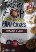 Cinnamon & sugar popcorn mini cakes, cinnamon & sugar - Product - en
