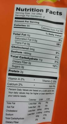 Chipotle Lime Cilantro Parsnip Coconut Snack Mix - Nutrition facts