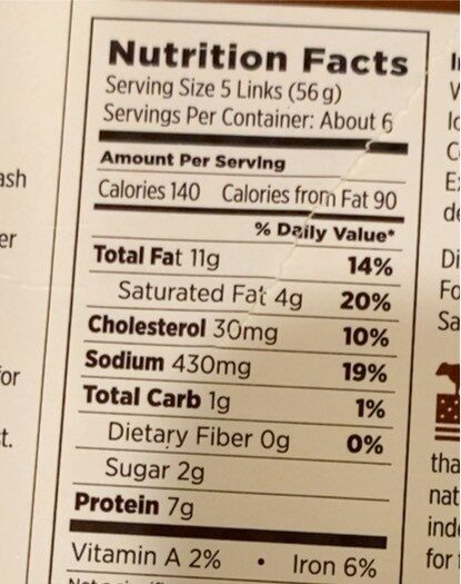 Little Goodies, Uncured Beef Hot Dogs - Informação nutricional - en