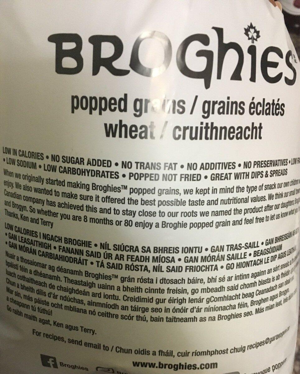 Broghies - Nutrition facts - en