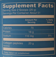 Collagen Peptides - Nutrition facts
