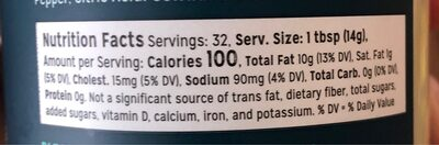 Classic mayonnaise - Nutrition facts