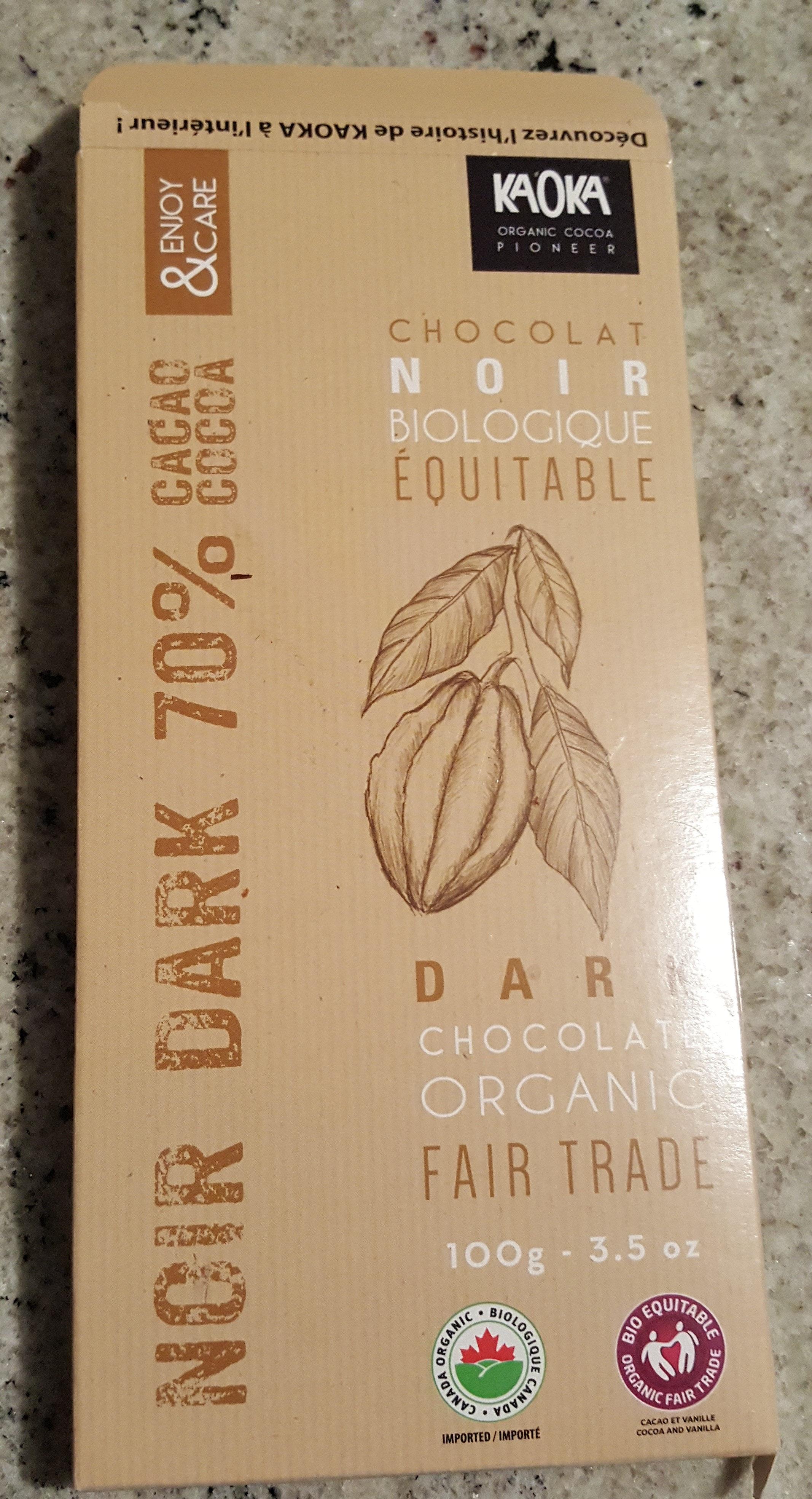 Chocolat noir biologique équitable - Product - fr