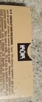 Chocolat noir biologique équitable - Ingredients - fr