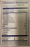 Abanico mac'ma - Voedingswaarden - es
