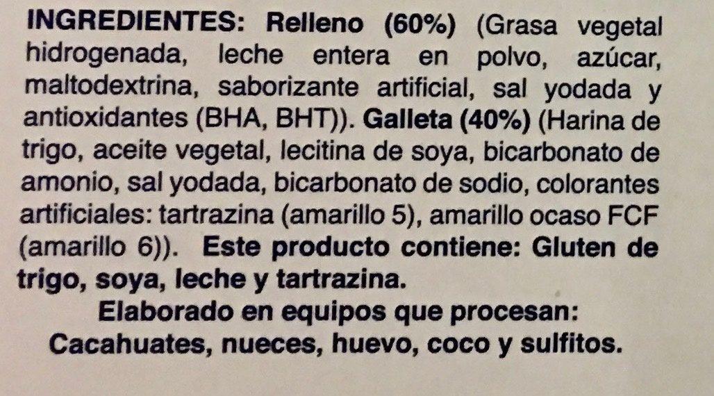 Grofenata - Ingrédients - es