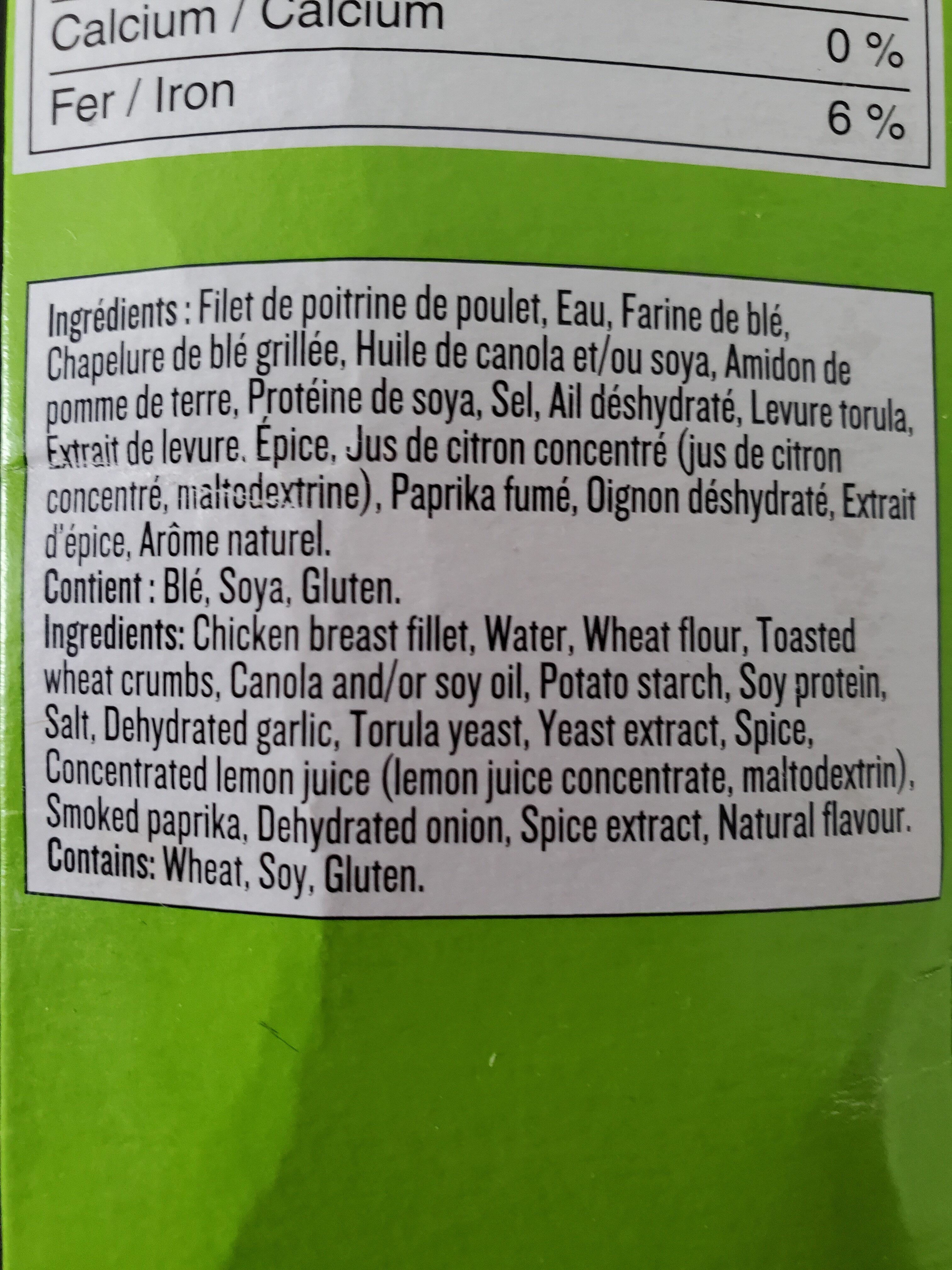 Filets de poulet - Ingredients - fr