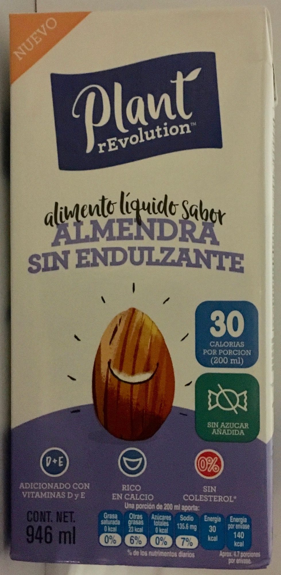 Alimento líquido sabor almendra sin endulzante - Product