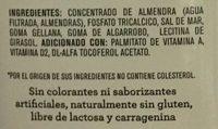 Alimento líquido sabor almendra sin endulzante - Ingrediënten