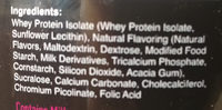 Protein Shake - Ingredients