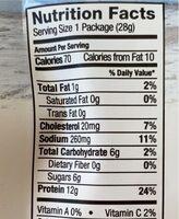 Classic beef jerky bags case - Nutrition facts - en
