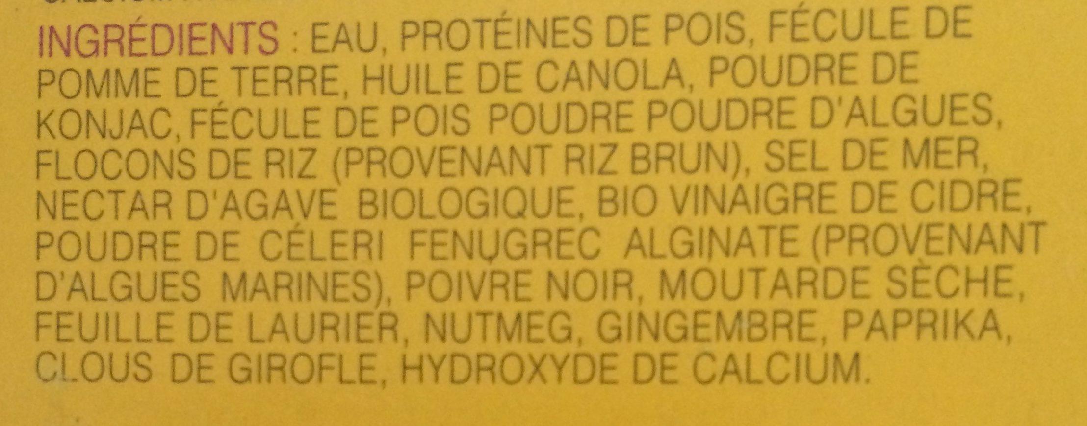 Beignet de Crabes Végétaliens - Ingredients