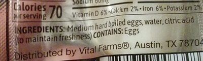 pasture raised hard boiled eggs - Ingredients
