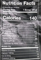 Protein powder cookies n cream - Nutrition facts - en