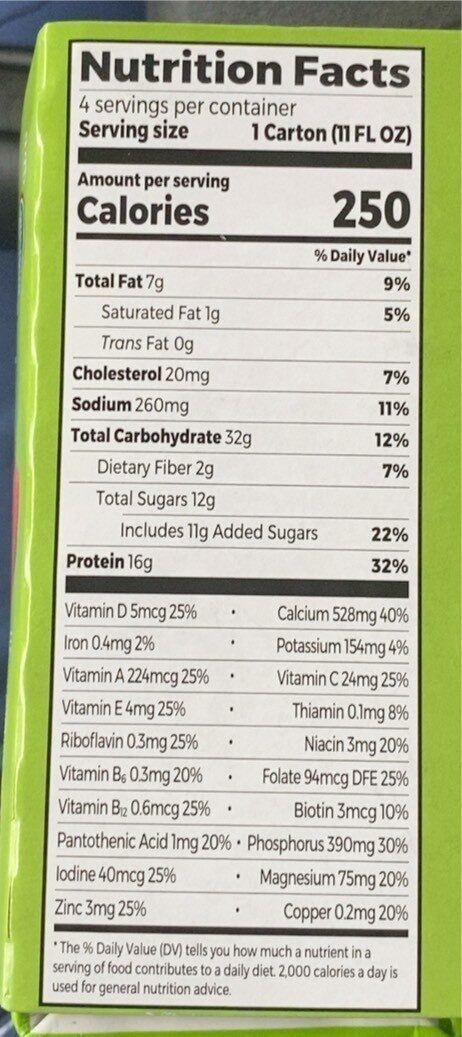 Organic nutritional shake strawberries cream - Valori nutrizionali - en