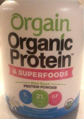 Organic plant based protein + superfoods powder vanilla bean - Product - en