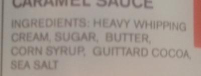 Dark Chocolate Caramel sauce - Ingredients - fr