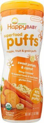 Organic baby food superfood puffs sweet potato carrot - Prodotto - en