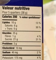 Terry's orange - Nutrition facts - fr