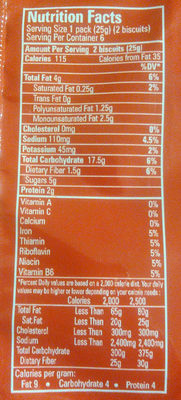 Breakfast Biscuit - Nutrition facts