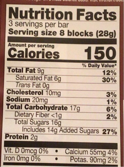 Seriously smooth milk chocolate - Nutrition facts - en