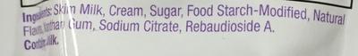 Natural vanilla flavored pudding - Ingredients