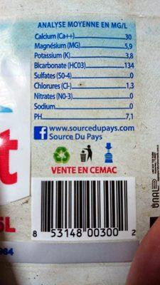 Supermont - Informations nutritionnelles - fr