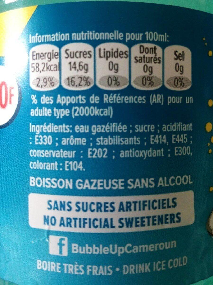Bouteille de jus bitter lemon - Informations nutritionnelles - fr