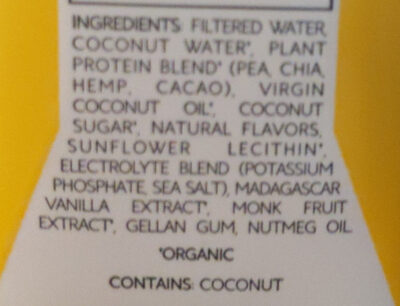 APRÈS Vanilla Bean - Ingredients - en