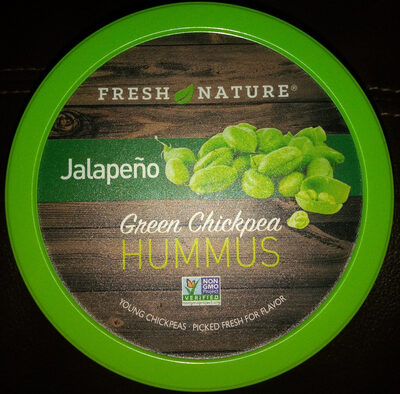 Green chickpea jalapeno hummus - Produit - en