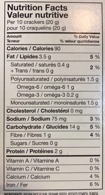 Craquelin multi-grains - Nutrition facts