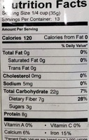 California Grown Chestnut - Nutrition facts