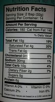 Chocolate Coconut Peanut Butter - Nutrition facts - en