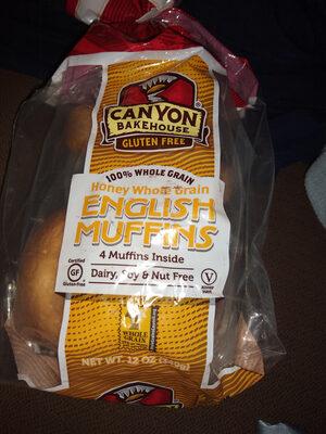 Honey Whole Grain English Muffins - Product