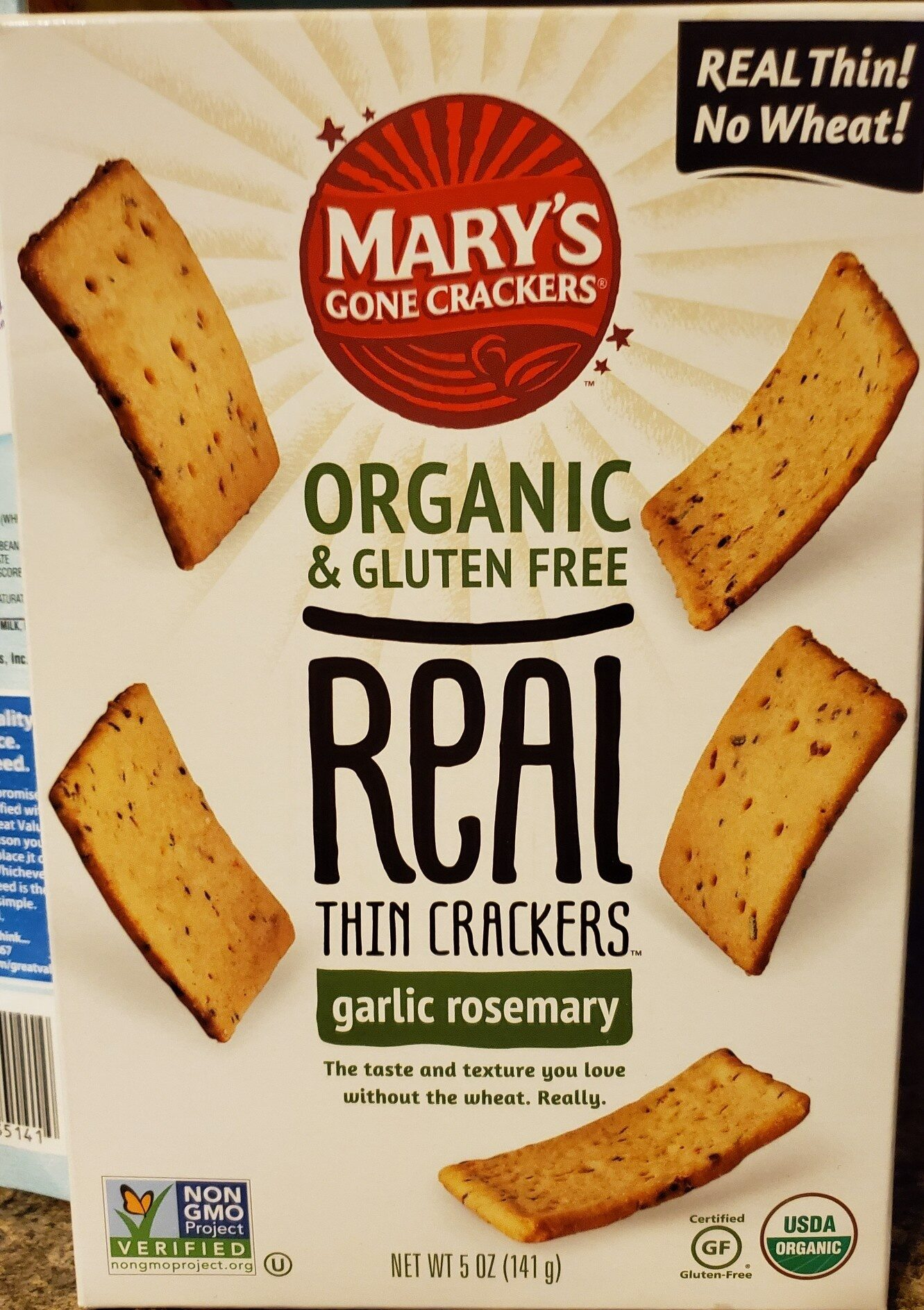 Organic & gluten free real thin crackers - Product - en