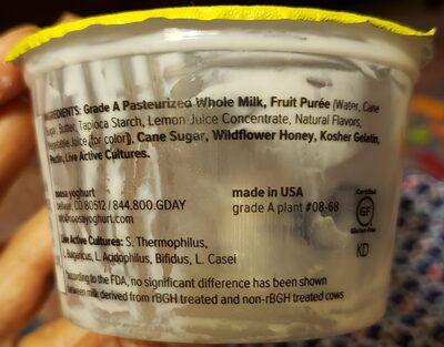 Lemon yoghurt - Ingredients - en