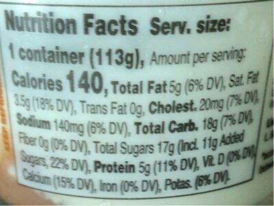 Noosa finest yoghurt - Nutrition facts - en
