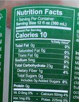 Green Minerals - Voedingswaarden - en