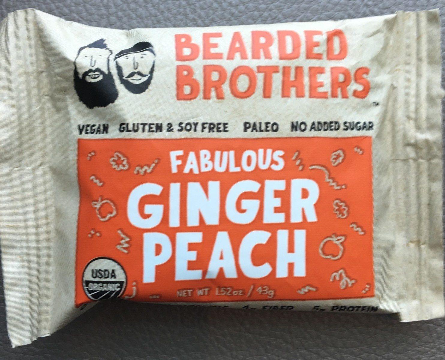 Bearded brothers, energy bar, fabulous ginger peach - Produit - fr
