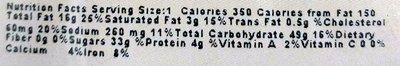 Black & White Cookie - Nutrition facts - en