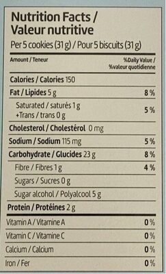 Biscuits Maria - Nutrition facts - en