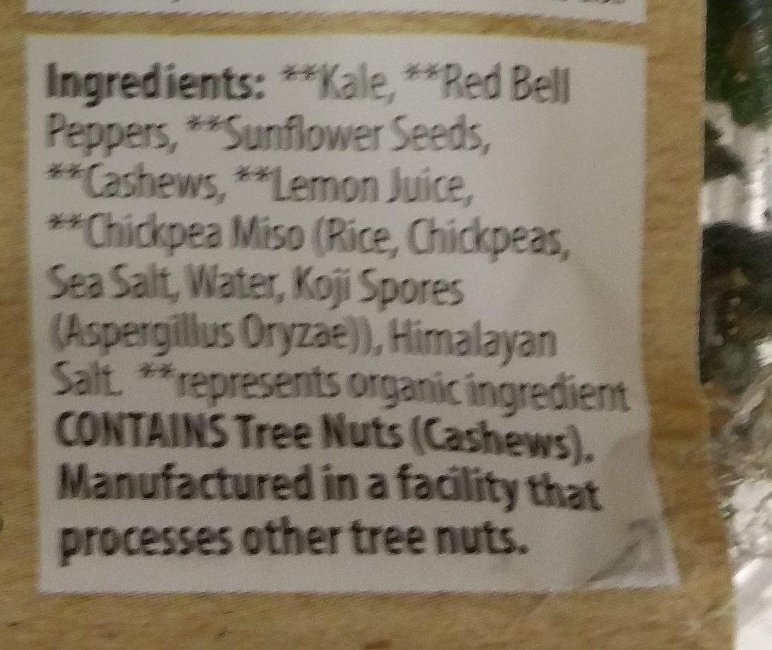 Raw Crunchy Kale - Ingredients