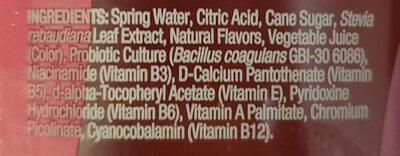 Probiotic water - Ingrediënten - en